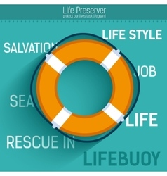 Lifebuoy for rescue salvation life icon vector