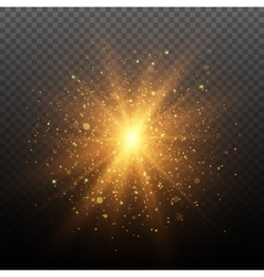 Light effect Star burst with sparkles vector