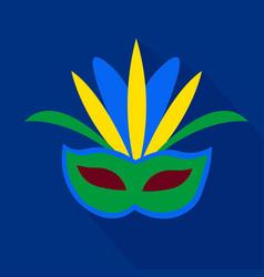 Mask cartoon flat icon brazil ceremony vector