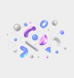 Modern concept be creative 4 vector