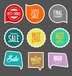 modern sale stickers collection 2 vector image