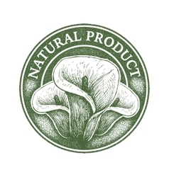 Natural product digital design vector
