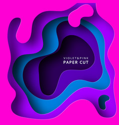 paper cut background paper art is violet vector image