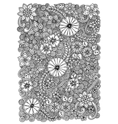 Pattern with flowers Ornate zentangle texture vector