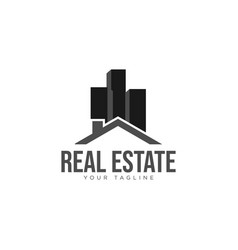 real estate building property logo design image vector image