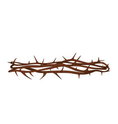 Realistic crown thorns vector