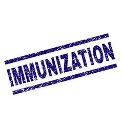 Scratched textured immunization stamp seal vector