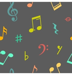 Seamless pattern of music notes and icons vector