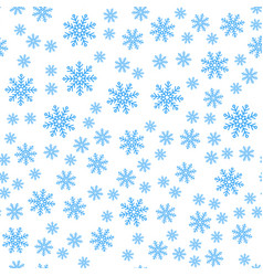 seamless pattern winter snowflakes background vector image