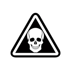 Skull warning sign vector