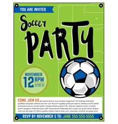 Soccer Football Party Flyer vector