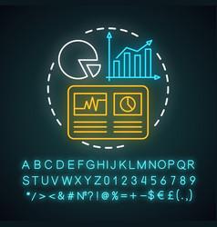 Statistics study research neon light concept icon vector