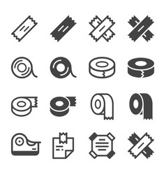 Sticky tape icon set vector