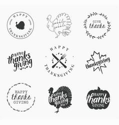 thanksgiving design elements vector image