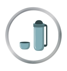Thermos icon of for web and vector image