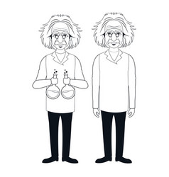 Two character scientist physical standing test vector