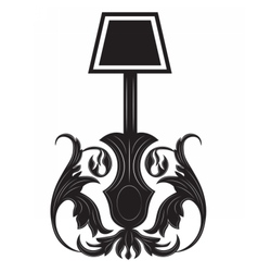 Vintage Gothic style lamp isolated vector