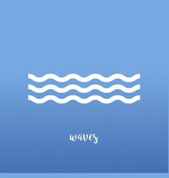 wave background icon water sea waves icon blue vector image