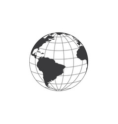 world globe or earth planet outline sign or symbol vector image