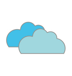 line color nature clouds weather in the sky icon vector image vector image