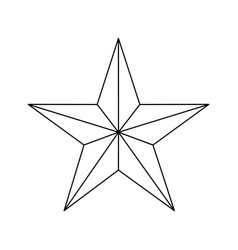 star award medal vector image vector image