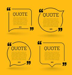 trendy block quote modern design elements creative vector image
