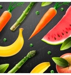 Vegetarian food pattern vector image vector image