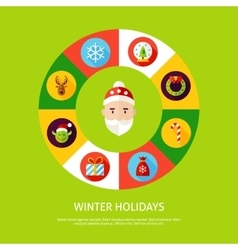 Winter Holidays Infographic Concept vector image
