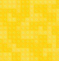 Yellow constructor blocks seamless pattern vector image