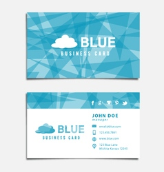 Blue Themed Business Card Template vector image vector image