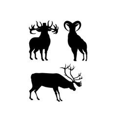 Elk Silhouettes vector image vector image