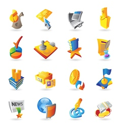 Icons for business and finance vector image