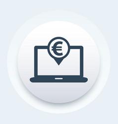 internet banking icon vector image