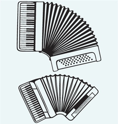 Music instruments Accordion vector image vector image