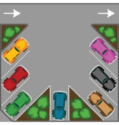 parking for cars vector image vector image