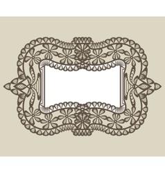 vintage lace frame vector image vector image