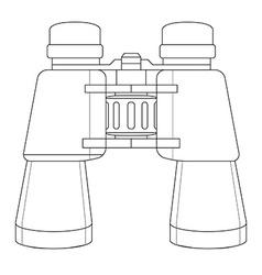 binoculars icon Contour vector image vector image