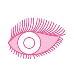 eye look eyelashes vision cartoon vector image