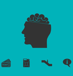 open mind icon flat vector image