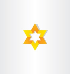 yellow orange star icon sign vector image vector image