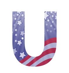 american letter U vector image vector image