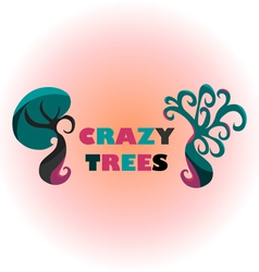 Crazy Trees vector image vector image