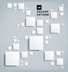 abstract 3d realistic geometric shape white paper vector image