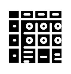 Apgar score newborn icon glyph vector