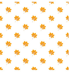 autumn chestnut leaf pattern seamless vector image