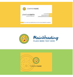 Beautiful bacteria on plate logo and business vector