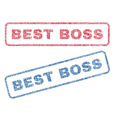 Best boss textile stamps vector