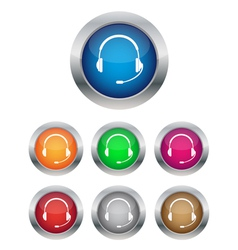 Call center buttons vector