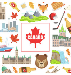 canada banner template with canadian national vector image