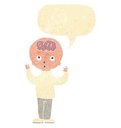 Cartoon genius with speech bubble vector